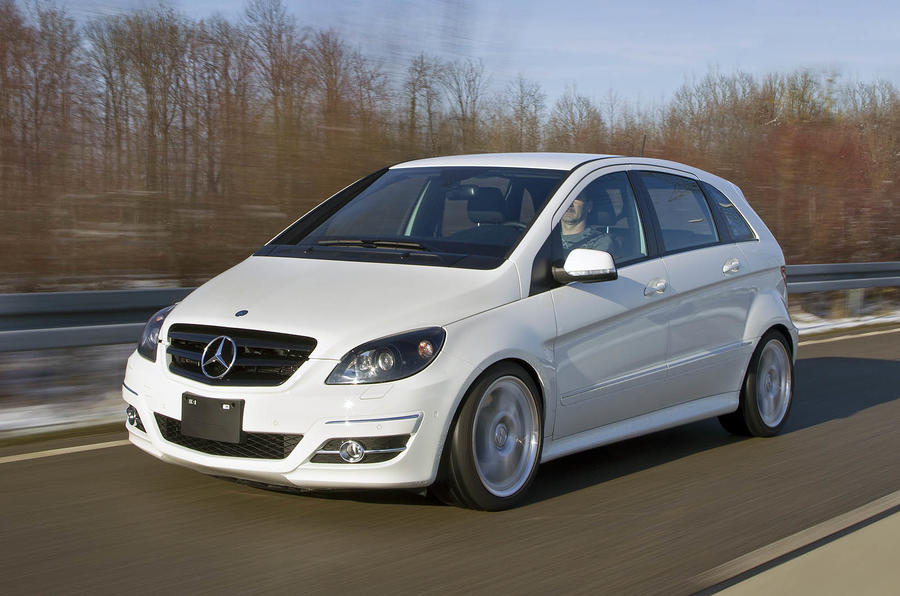 Mercedes benz b 55 review autocar for Mercedes benz blue window tint