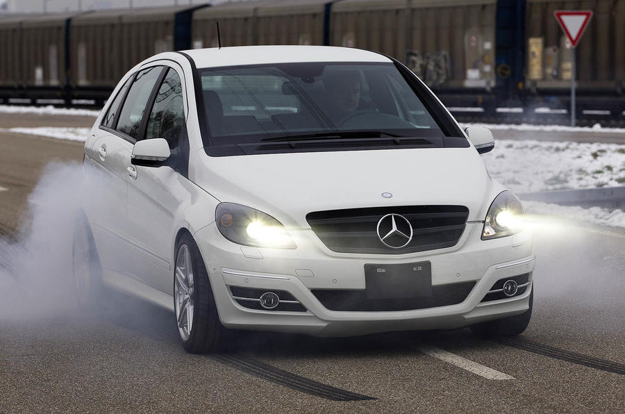 Mercedes-Benz B 55 burnout