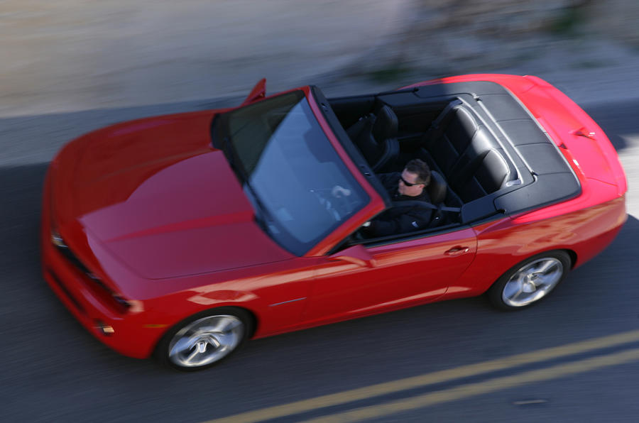 Chevrolet Camaro SS Cabriolet roof down