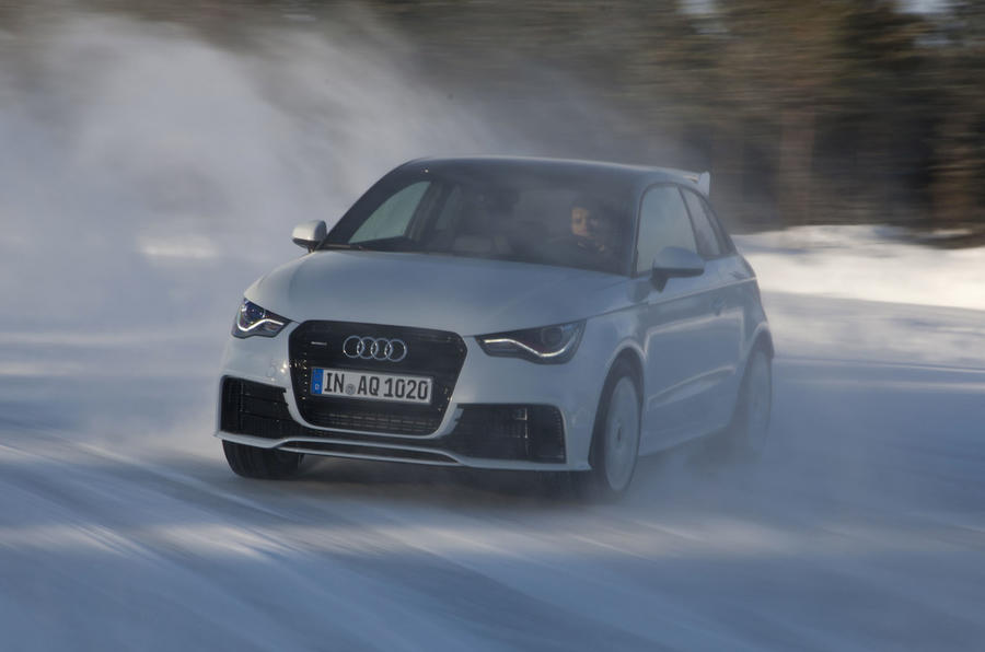 Audi A1 Quattro on snow