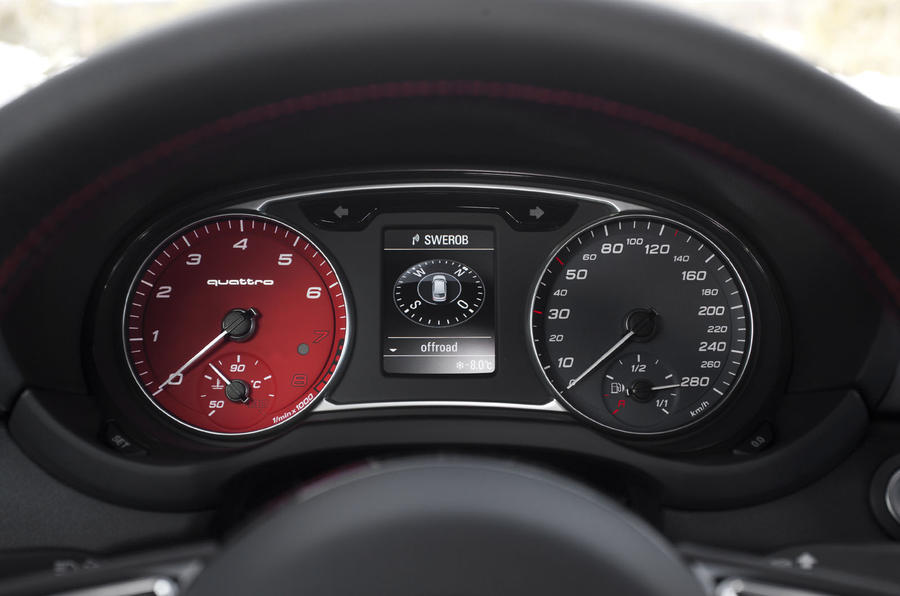 Audi A1 Quattro instrument cluster