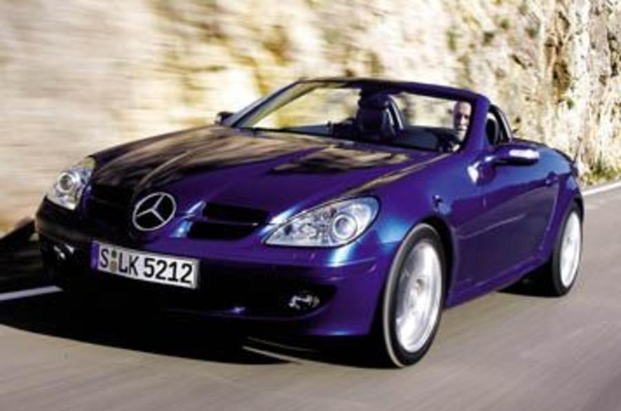 mercedes benz slk350 convertible first drive. Black Bedroom Furniture Sets. Home Design Ideas