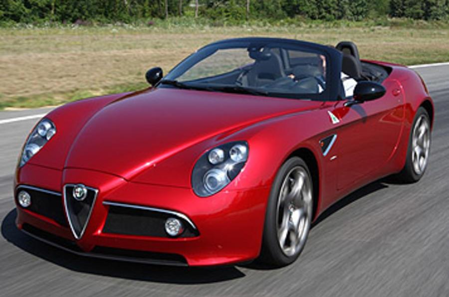 Alfa Romeo 8C Spider front quarter