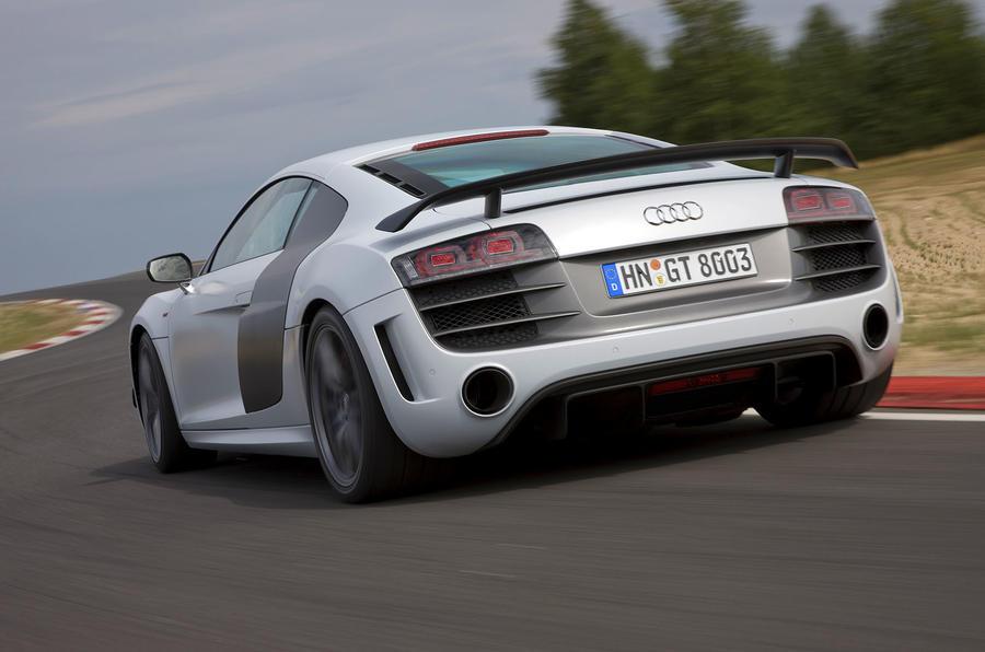 Audi R8 GT rear cornering