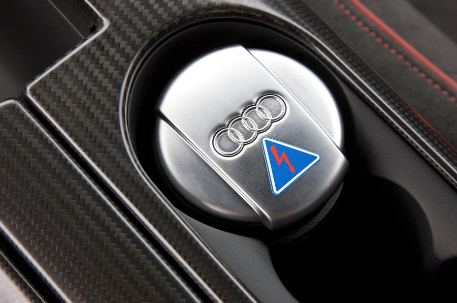 Audi R8 GT ignition button
