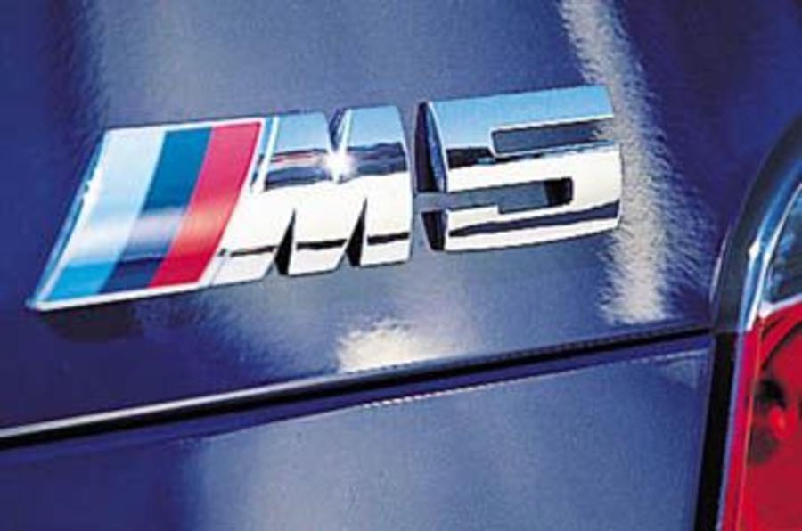 BMW M5 badging