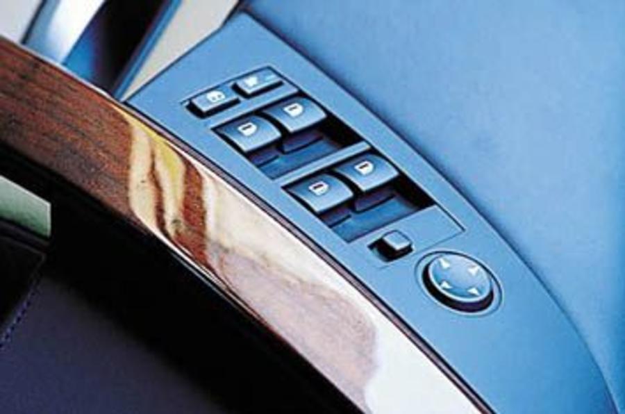BMW M5 drivers door controls