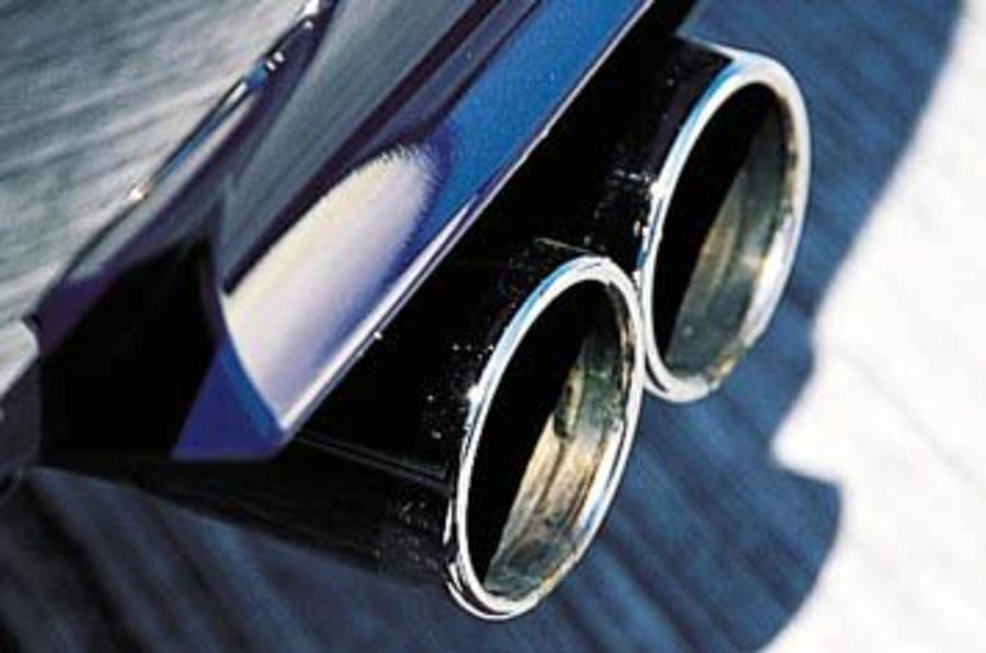 BMW M5 quad exhaust system