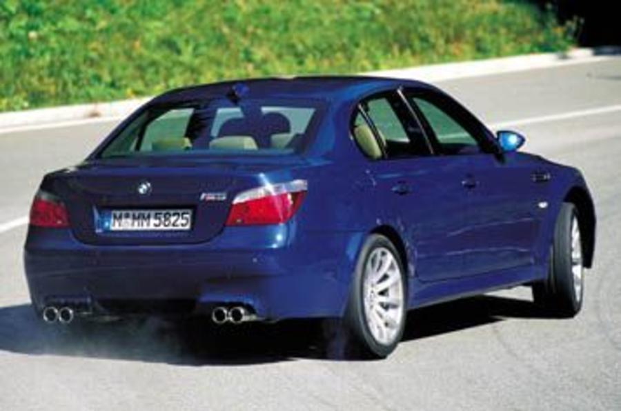 BMW M5 rear corners