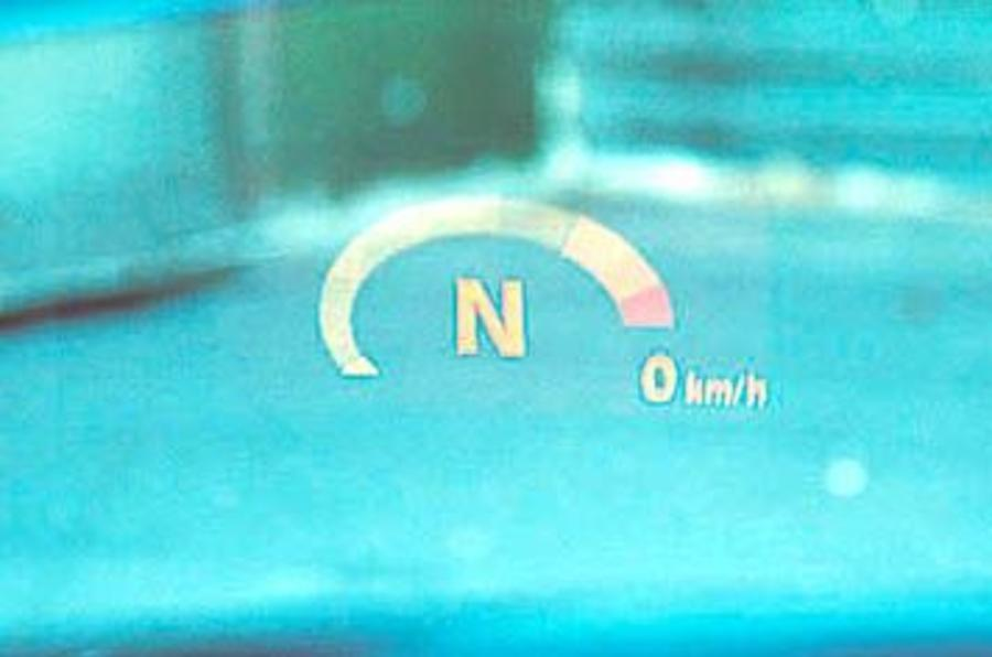 BMW M5 head-up display