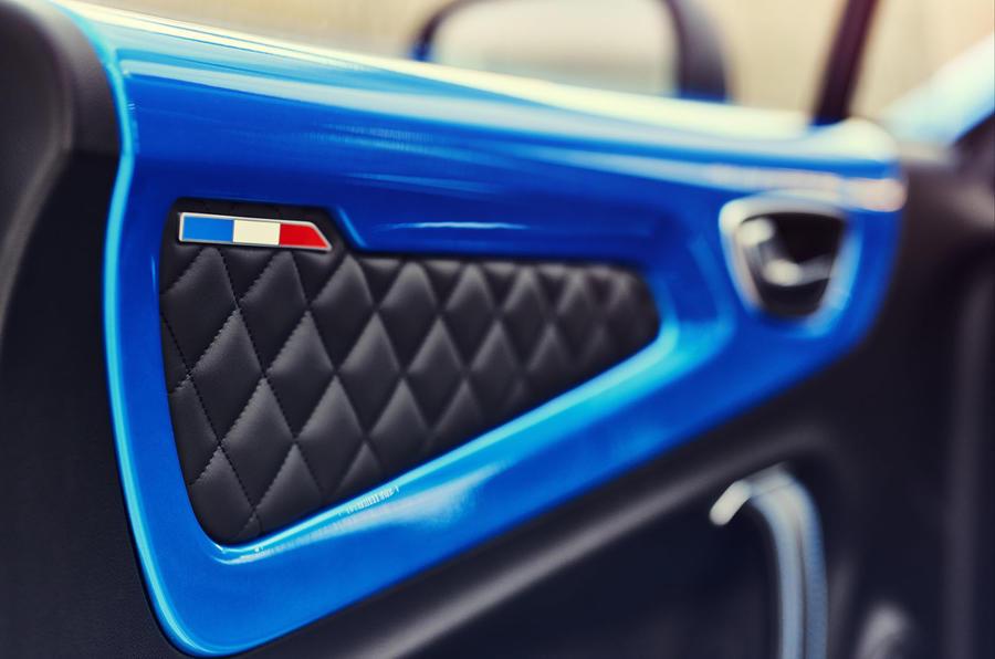 Alpine A110 2018 road test review door cards