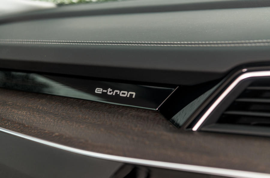 Audi E-tron 55 Quattro 2019 road test review - dashboard trim