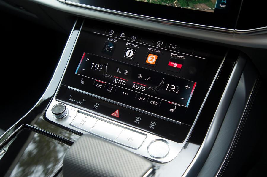Audi Q8 50 TDI Quattro S Line 2018 road test review - climate controls