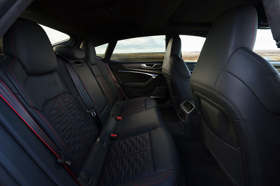 Audi RS7 Sportback 2020 road test review - rear seats