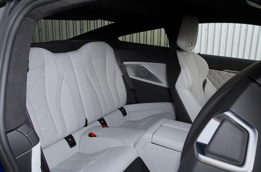 BMW M8 Competition coupe 2020 road test review - rear seats