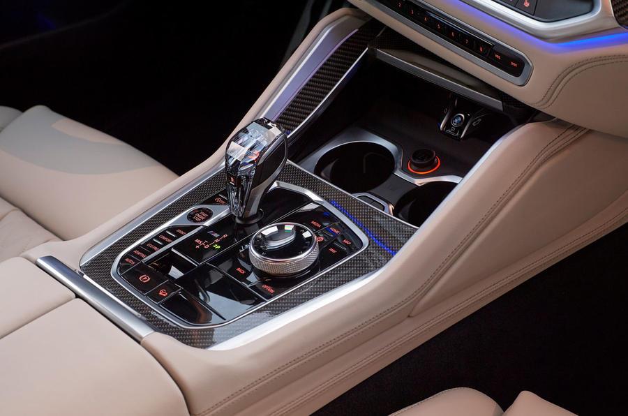 BMW X6 M50i 2019 road test review - gearstick