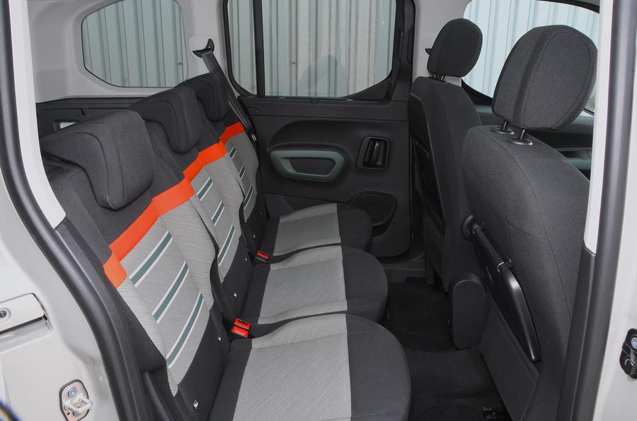 Citroen Berlingo 2018 road test review - rear seats