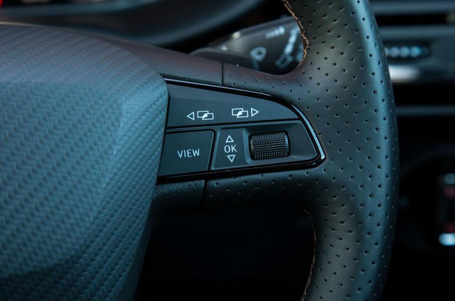 Cupra Ateca 2019 road test review - steering wheel controls