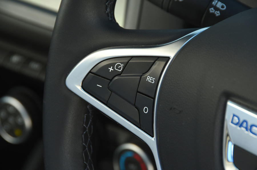 Dacia Duster 2018 road test review cruise control buttons