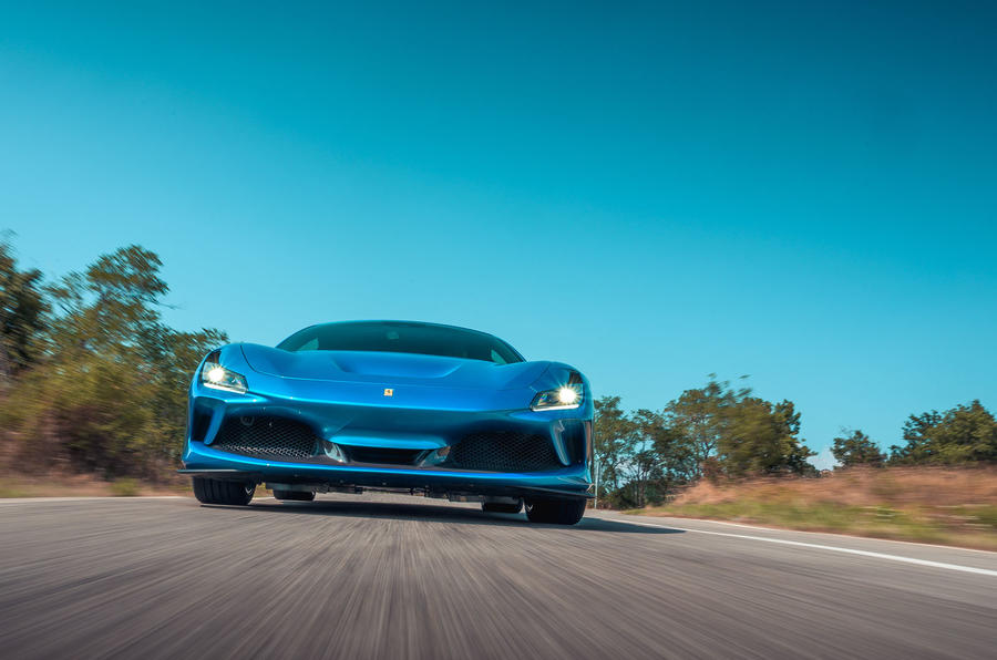 Ferrari F8 Tributo 2019 road test review - on the road low