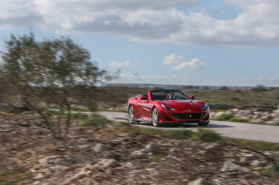 Ferrari Portofino review on the road trees