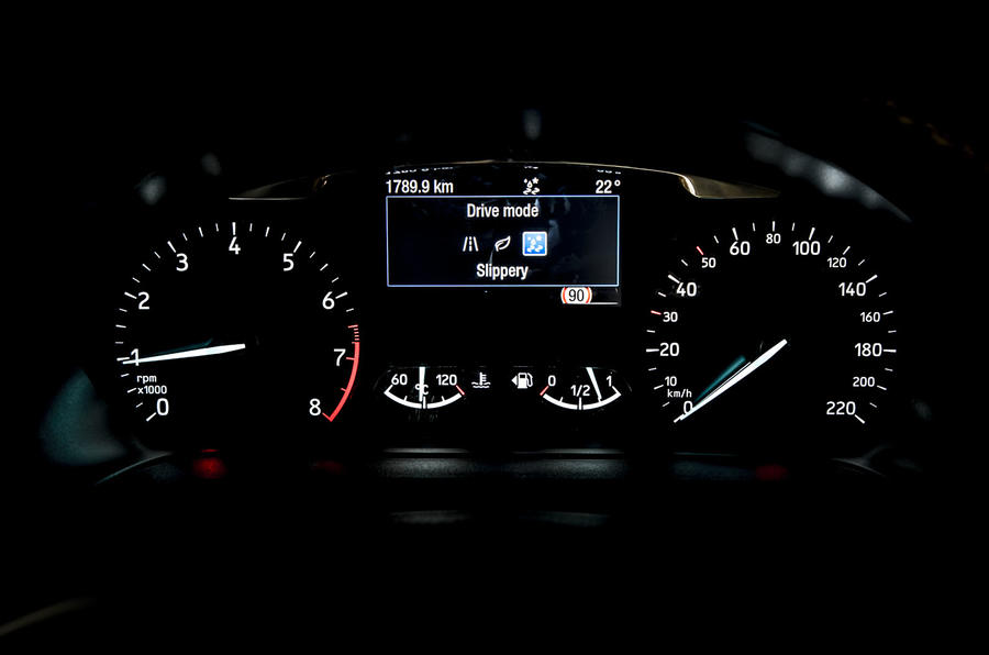Ford Fiesta Active 2018 road test review instrument cluster
