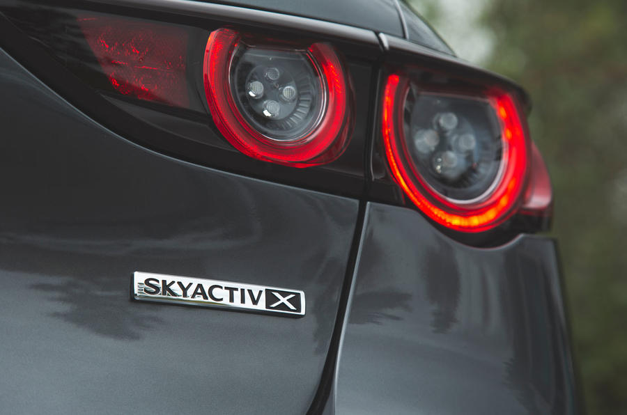 Mazda 3 Skyactiv-X 2019 road test review - engine badge