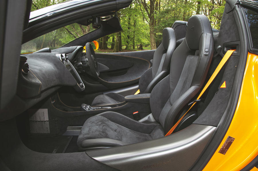 McLaren 600LT Spider 2019 road test review - cabin