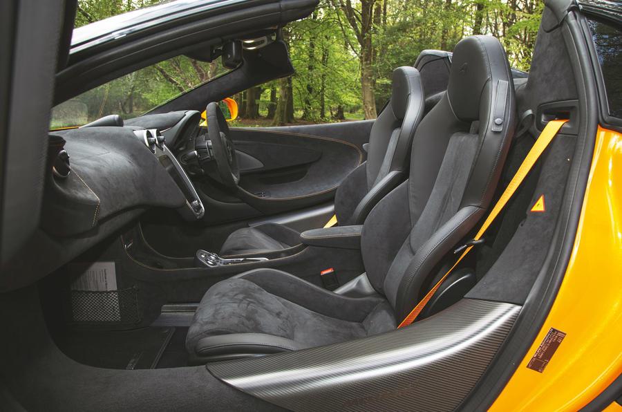 McLaren 600LT Spider 2019 road test review - cabin