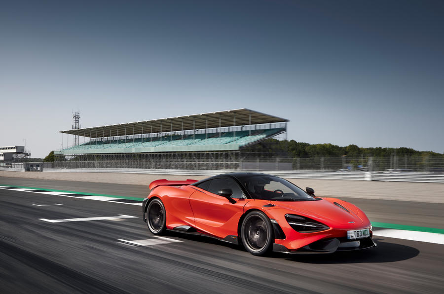 McLaren 765LT 2020 road test review - on track front