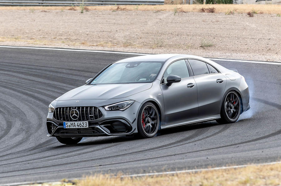 Mercedes-AMG CLA 45 S 2019 road test review - drift front