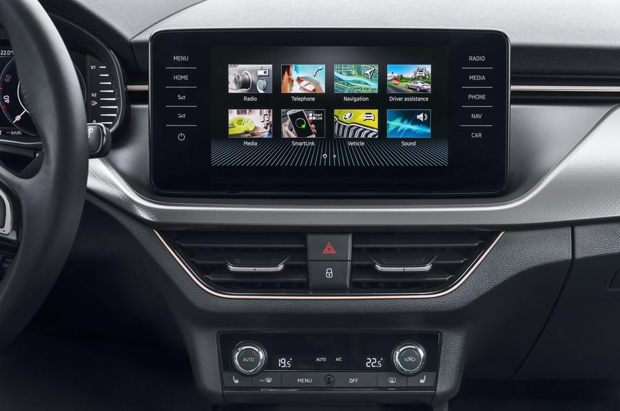 Skoda Kamiq 2019 road test review - infotainment