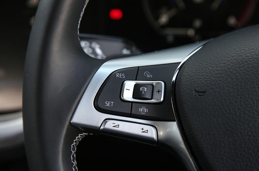 Volkswagen Touareg 2018 road test review steering wheel controls