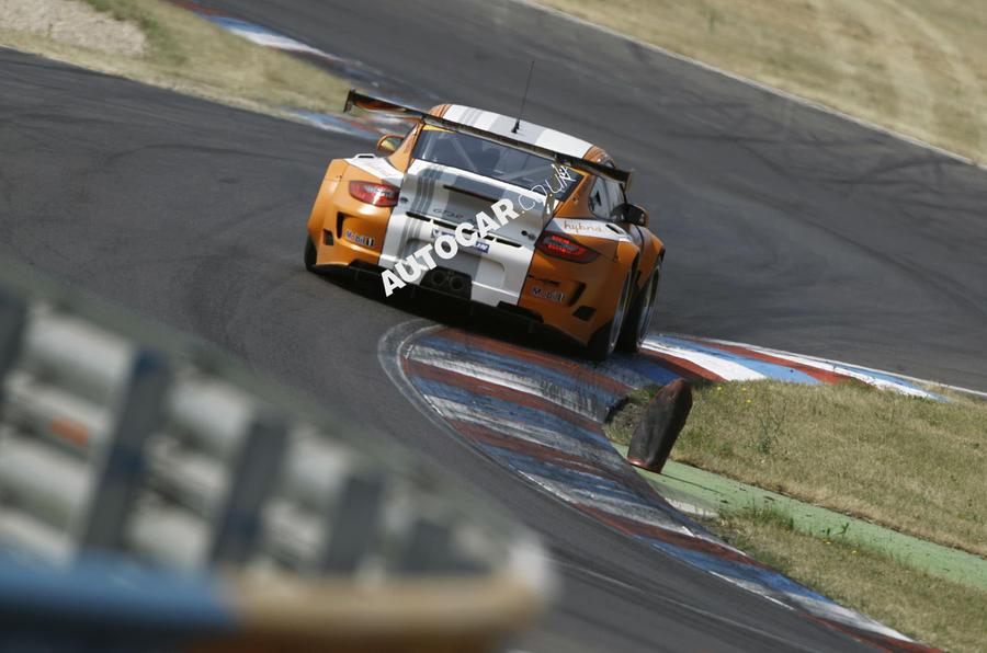 Porsche 911 GT3 R rear cornering