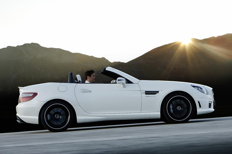 Mercedes-AMG SLK 55 side profile