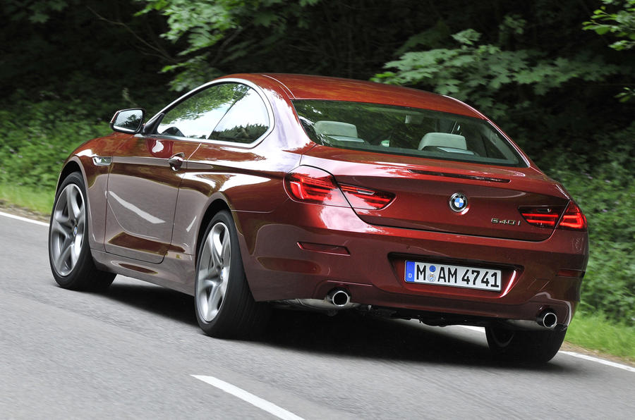 BMW 640i Coupe Rear Cornering