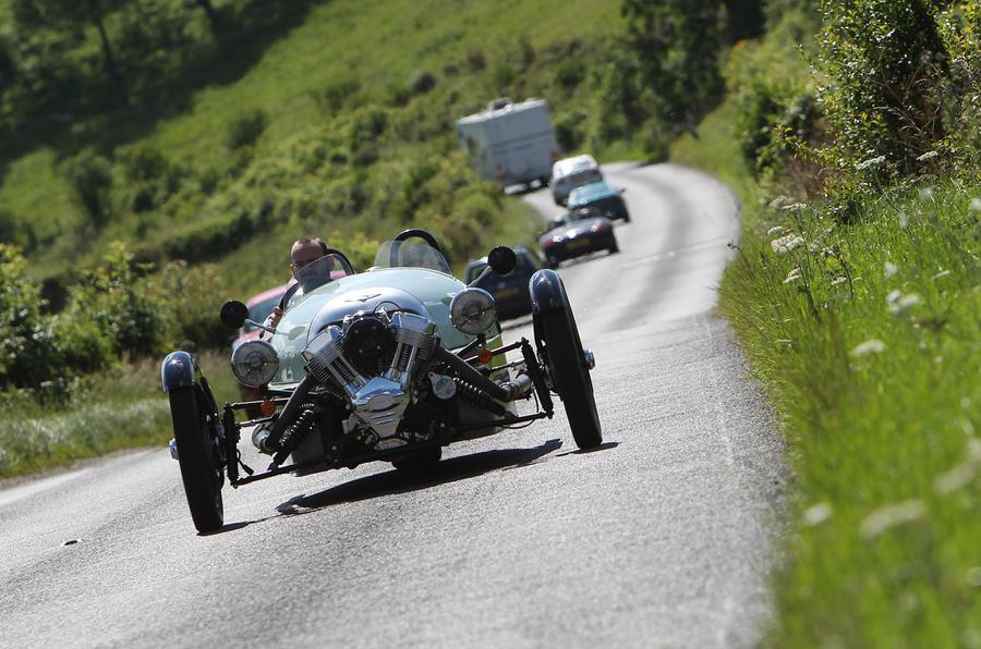 Morgan 3 Wheeler on road