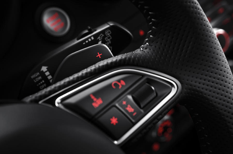 Audi A1 Sportback paddle shifters