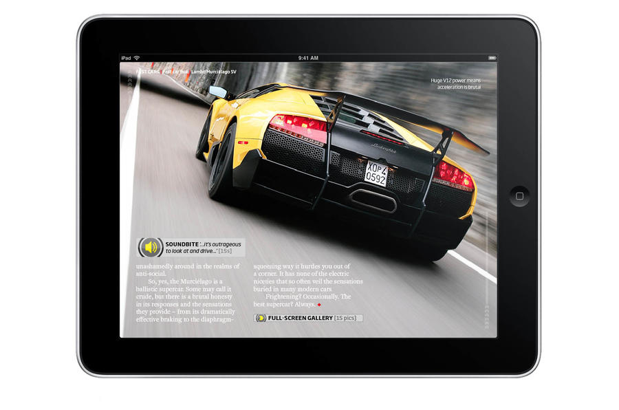 Autocar arrives on the iPad