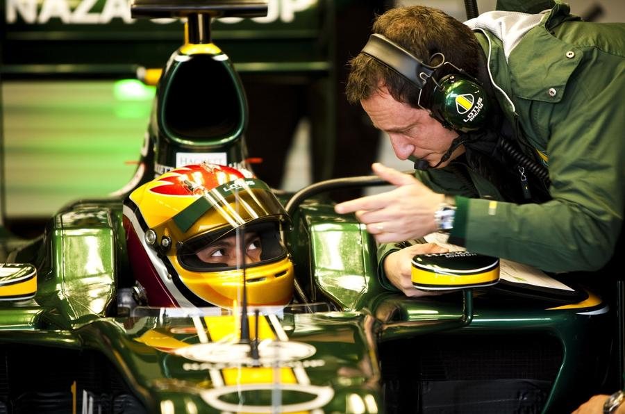 Lotus F1 returns; Vettel fastest