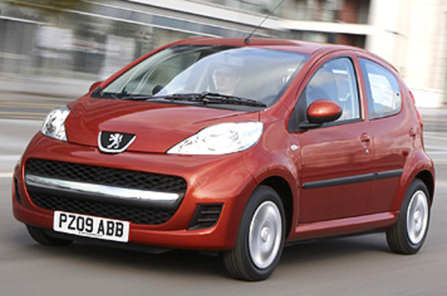 peugeot 107 1 0 urban 2009 review autocar. Black Bedroom Furniture Sets. Home Design Ideas