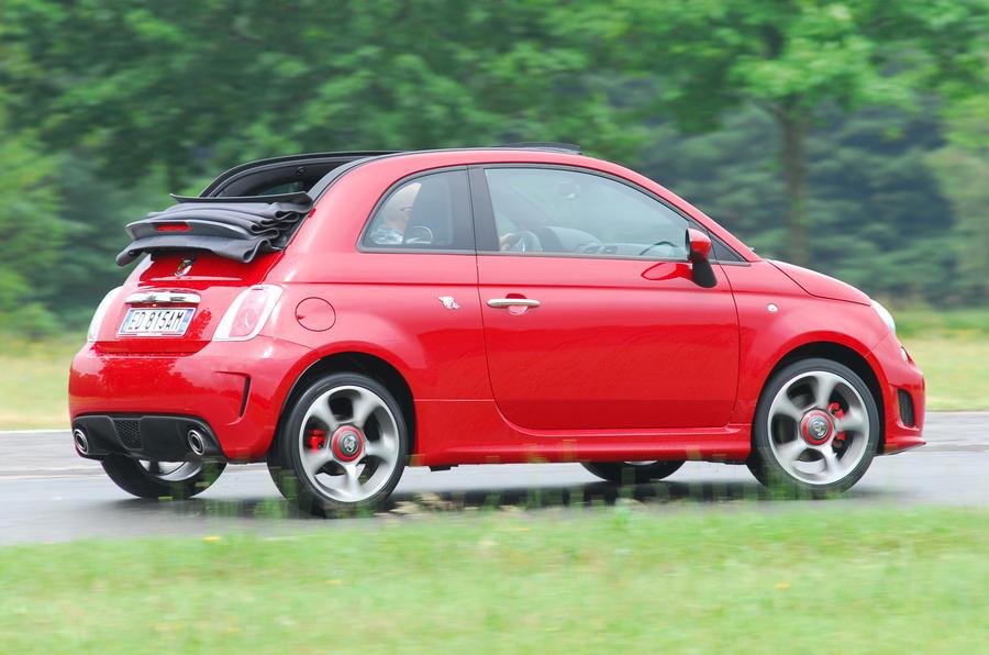 Fiat 500C Abarth cornering