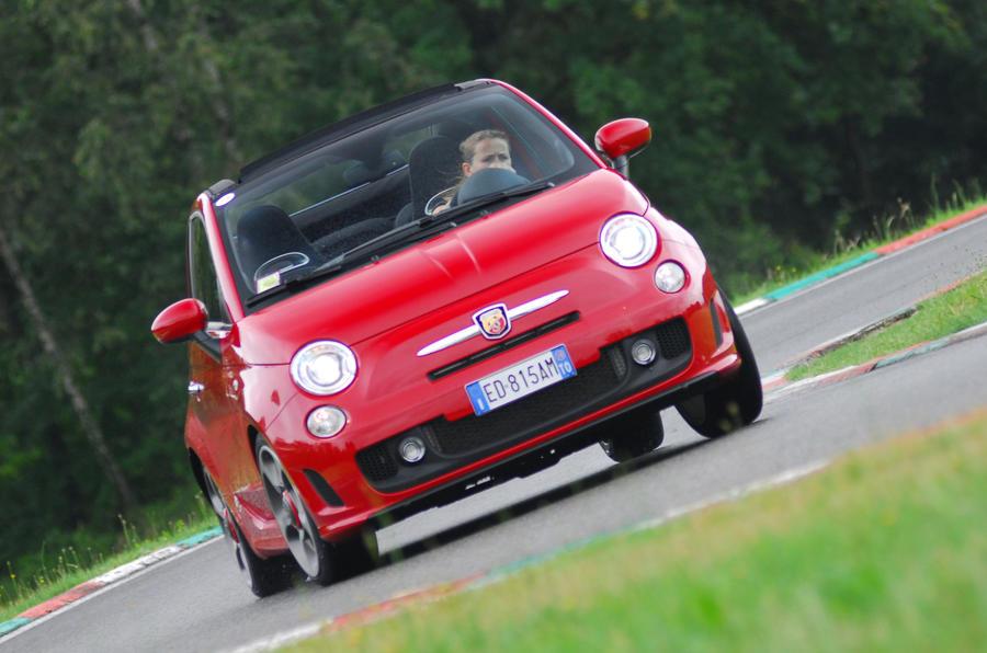 Fiat 500C Abarth hard cornering