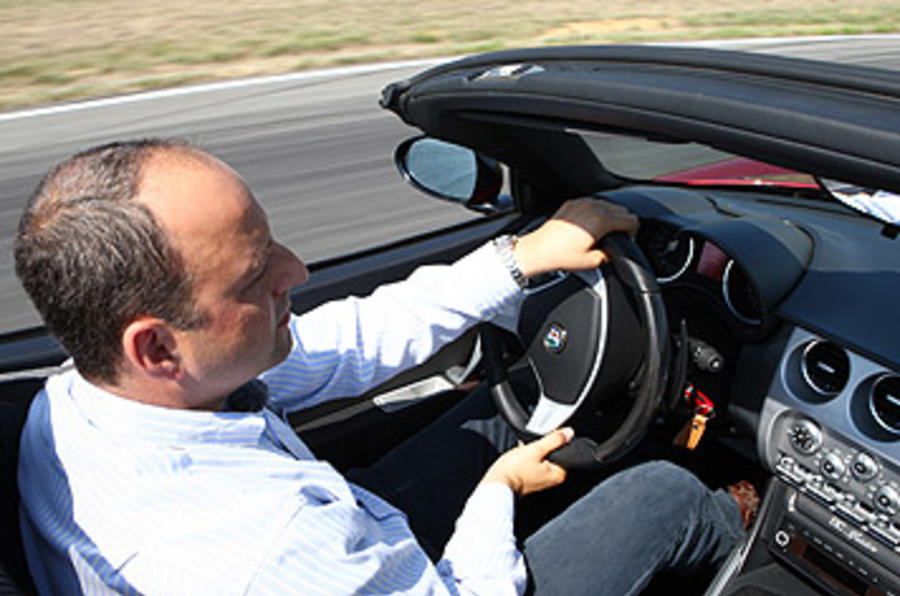 Driving the Alfa Romeo 8C Spider