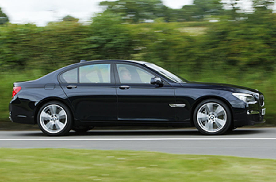 BMW 740d M Sport side profile