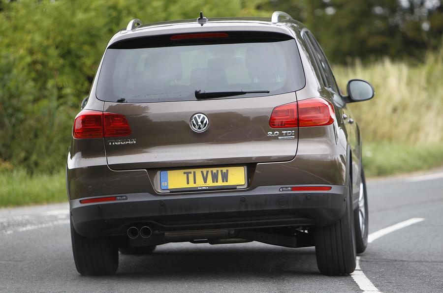 Volkswagen Tiguan rear cornering