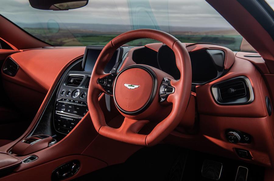 Aston Martin DBS Superleggera 2018 road test review - steering wheel