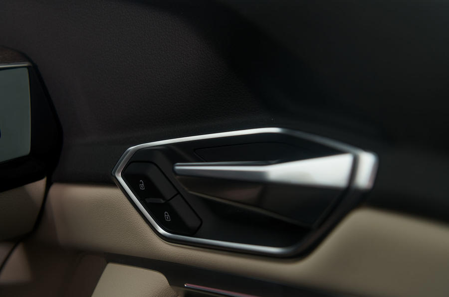 Audi E-tron 55 Quattro 2019 road test review - door handles