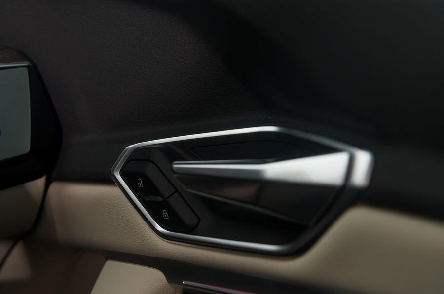 Audi E-tron 55 Quattro 2019 road test review - door handles