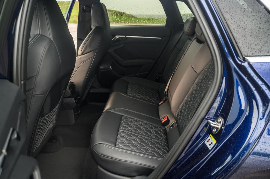 Audi S3 Sportback 2020 road test review - rear seats